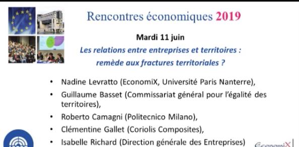 Rencontres Economiques de Bercy : Les relations entre entreprises et territoires : remède aux fractures territoriales ?